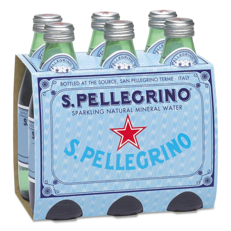 San Pellegrino Sparkling Natural Mineral Water, 8 Oz Bottle, 24/Carton