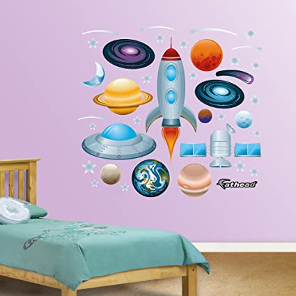 Amazon.com: FATHEAD Outer Space Collection Graphic Wall Décor: Home ...