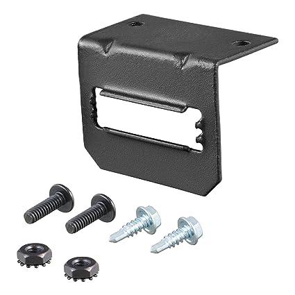 amazon com: curt 58303 vehicle-side trailer wiring harness mounting bracket  for 5-way flat: automotive