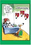 B1540 Box Set of 12 Complainers Funny Christmas Paper Cards with Envelopes