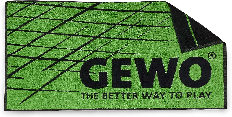 GEWO Handtuch Game M grün/Schwarz Toalla de Mano, Unisex, Verde/Negro, Medium