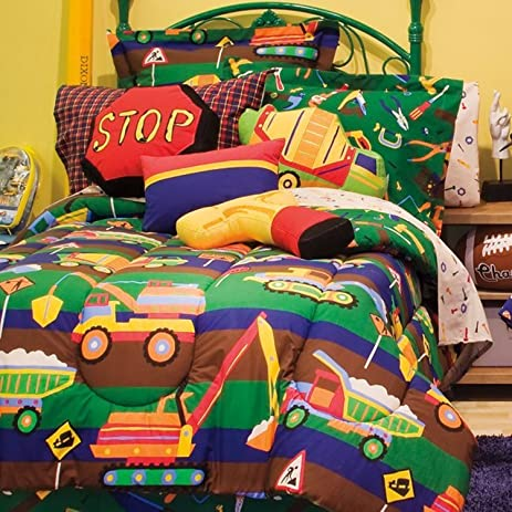 Great Kidz Mix Construction Zone Bed In A Bag, Twin
