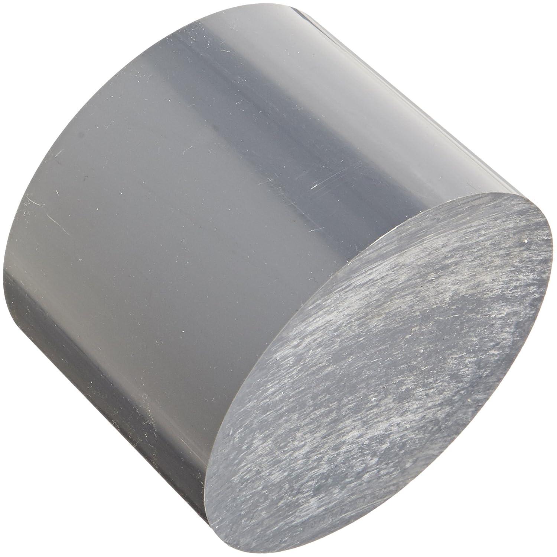Round Rod 1-1//4 Diameter Polyvinyl Chloride Opaque Gray 5 Length Standard Tolerance PVC UL 94V0