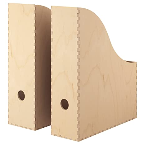IKEA KNUFF - Magazine file set of 2, plywood by Ikea