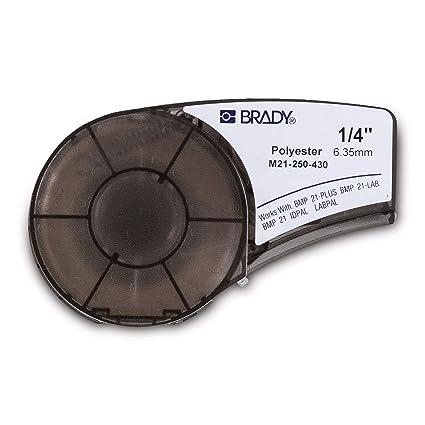 Brady 139755 Negro, Blanco Etiqueta para impresora autoadhesiva ...