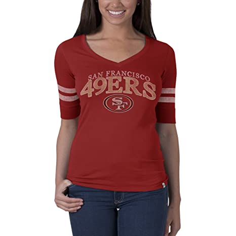 ffbaa9018 Amazon.com    47 NFL Women s Flanker Stripe Tee   Sports   Outdoors