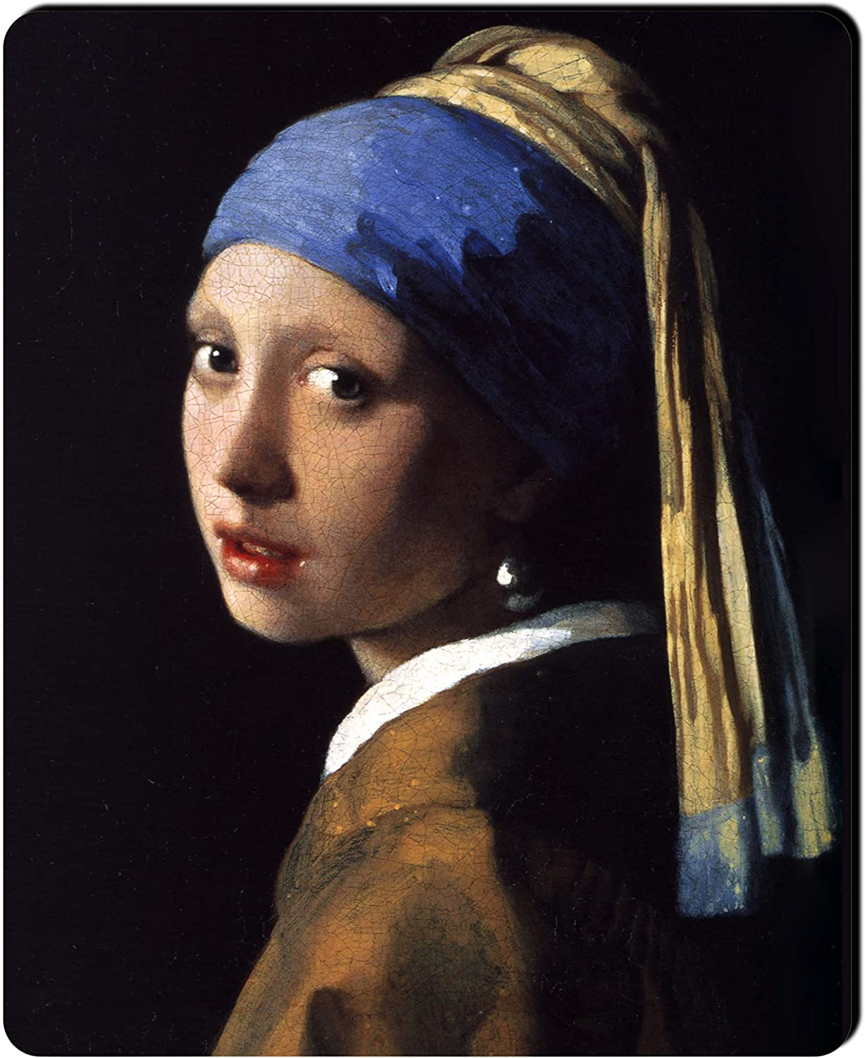 Nextation Famous Paintings Series Gaming Mouse Pad Girl with a Pearl Earring Ultra Thick Silky Smooth 11.8 x 9.8 x 0.2 inches Medium Size