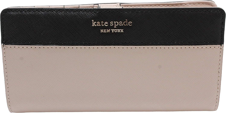 Kate Spade New York Wellesley Printed Stacy (Warm Beige/Black), Medium