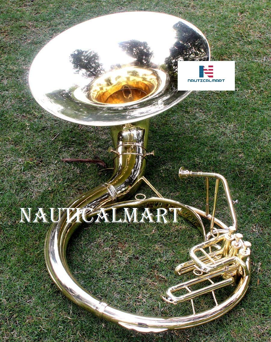 Brass Sousaphone 20'' Valve Big Tuba Made Of/Full Brass W/Bag Brass Finish Tubas