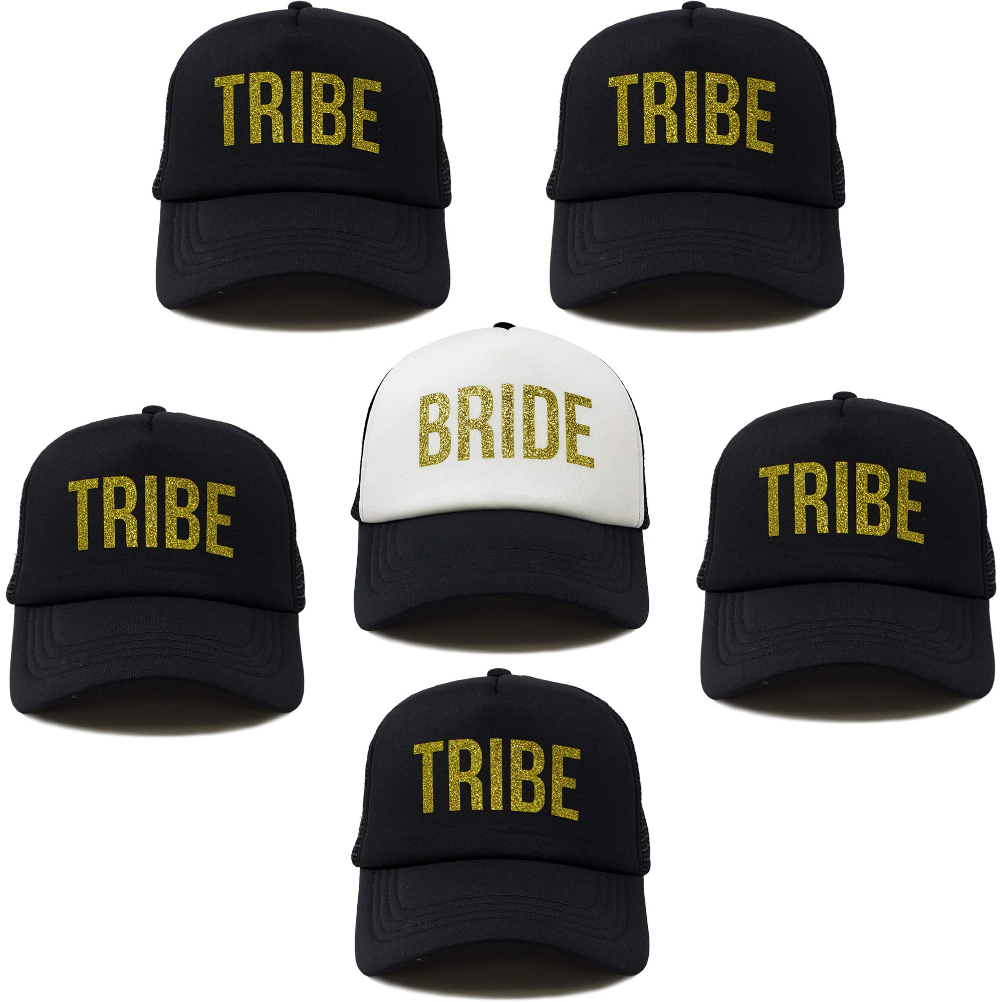 BH-204-6-B0902.5T0602 Bridal Trucker Hat Bundle - 1 Bride, 5 Tribes