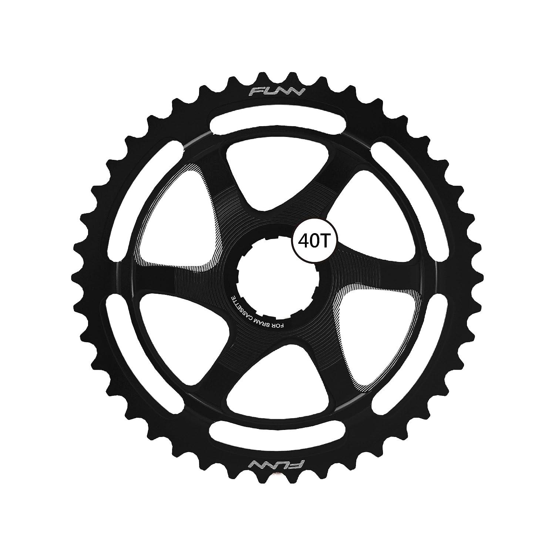 Funnクリンチ拡張子Cog 40t (for SRAM 10 spd) B076P8X4BZ ブラック ブラック