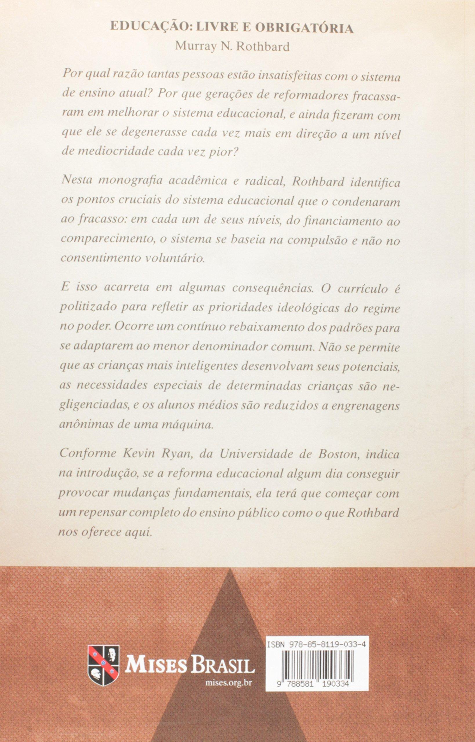 Educação. Livre e Obrigatória - 9788581190334 - Livros na Amazon Brasil