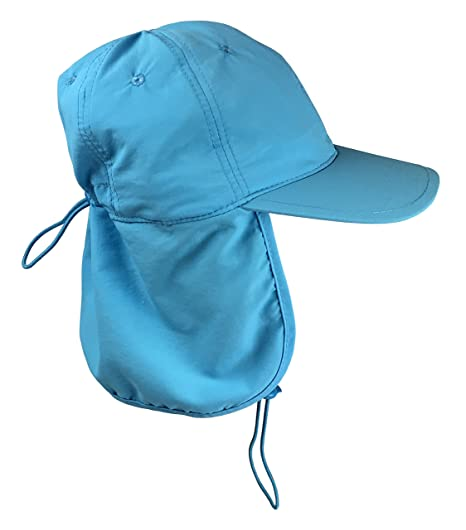 00097637d45 Amazon.com  N Ice Caps Kids SPF 50+ UV Protection Long Neck Cover  Adjustable Sun Hat  Clothing