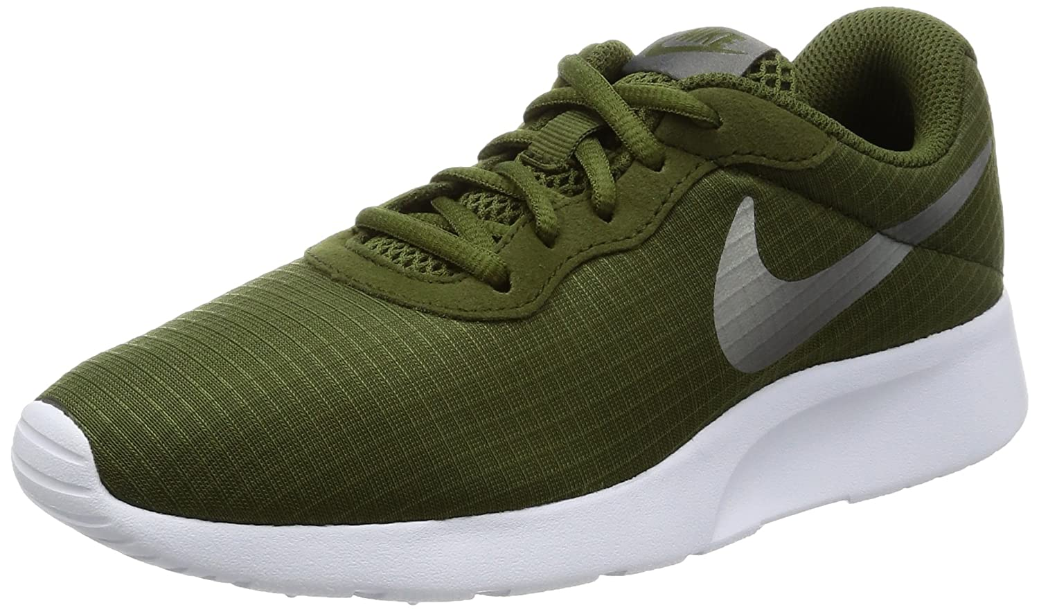 NIKE Women's Tanjun Running Shoes B008S869II 7.5 B(M) US|Green