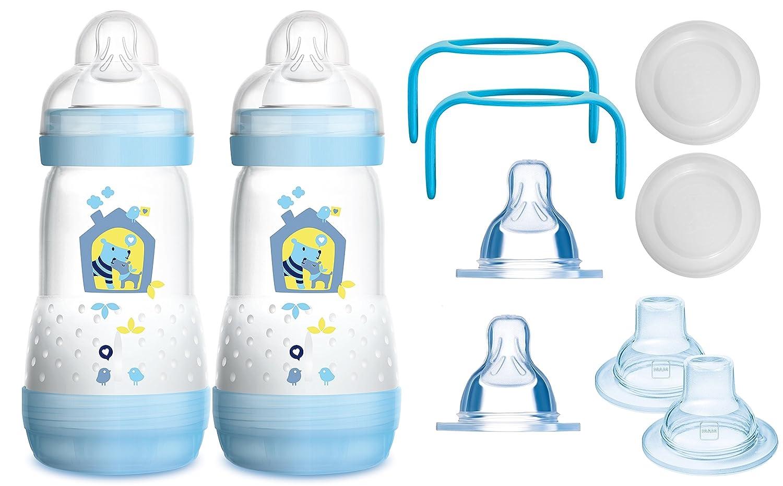 MAM das mitwachsende Flaschen Set Junge Sauger Griffe Anti Colic Flaschen 10 teilig Schn/äbel
