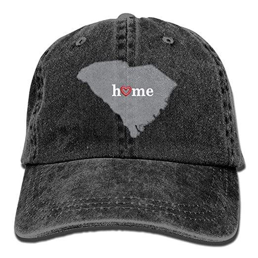 Image Unavailable. Image not available for. Color  Men Women s South  Carolina Heart in Home Distressed Cotton Denim Baseball Cap Hat ab2c2bfeb6cb