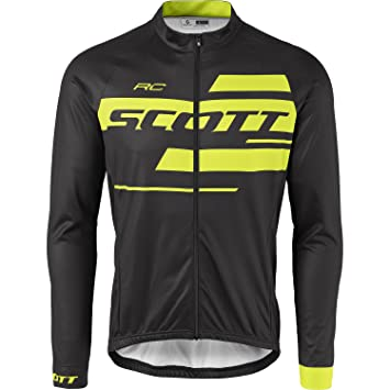 Scott RC Team 10  s long-sleeved cycling jersey black yellow 2017 ... 0611641f4
