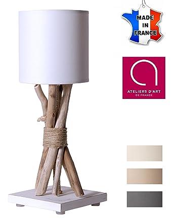 De Time En Chevetde Bois Ecume Table Bo Flotté Lampe mN0v8wn
