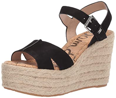 4f2e7dffe Sam Edelman Women s Maura Wedge Sandal Black Leather 5 ...