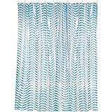 MSV 140267 Rideau de Douche PVC Bleu 180 x 200 x 0,1 cm