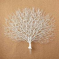 JAROWN - Pianta finta, corallo artificiale a forma di coda di pavone, ideale come ornamento/paesaggio per acquario