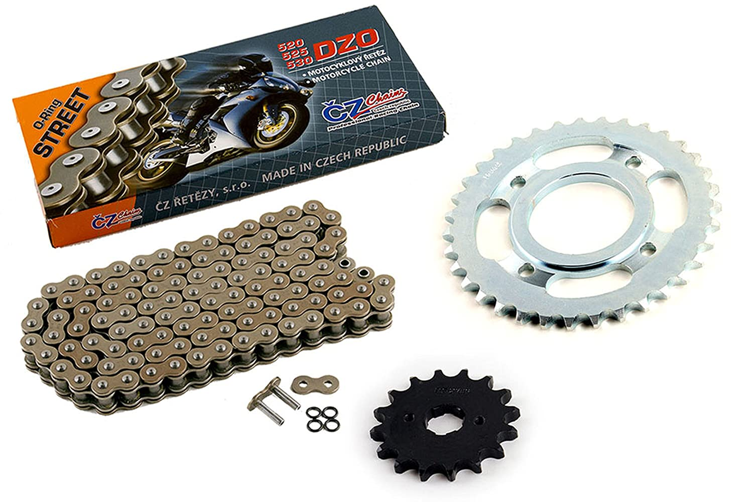 1982 Fits Honda CM450A Automatic CZ DZO O-Ring Chain and Sprocket Kit 16//35 110L