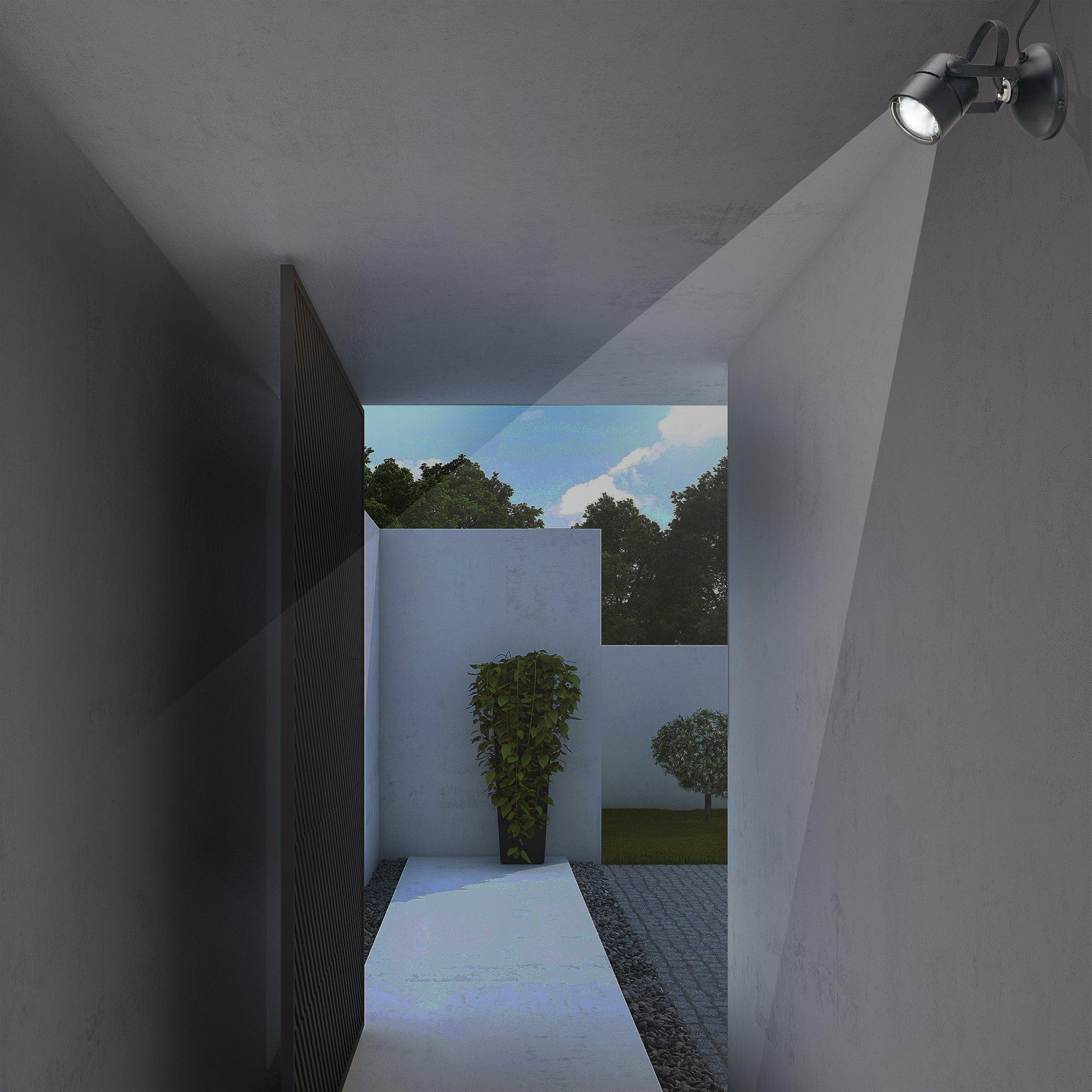 Good Earth Lighting Micro Halogen Spotlight - Black