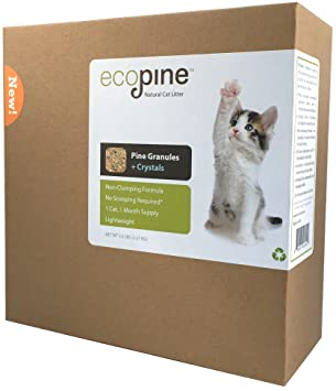 Unlike Some People Our Cat Follows >> Ecopine Natural Cat Litter Original Formula 5 Lbs Amazon Co Uk