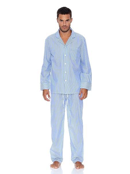 Pedro del Hierro Pijama Rayas Azul L