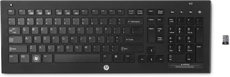 HP Wireless K5500 - Teclado inalámbrico, negro