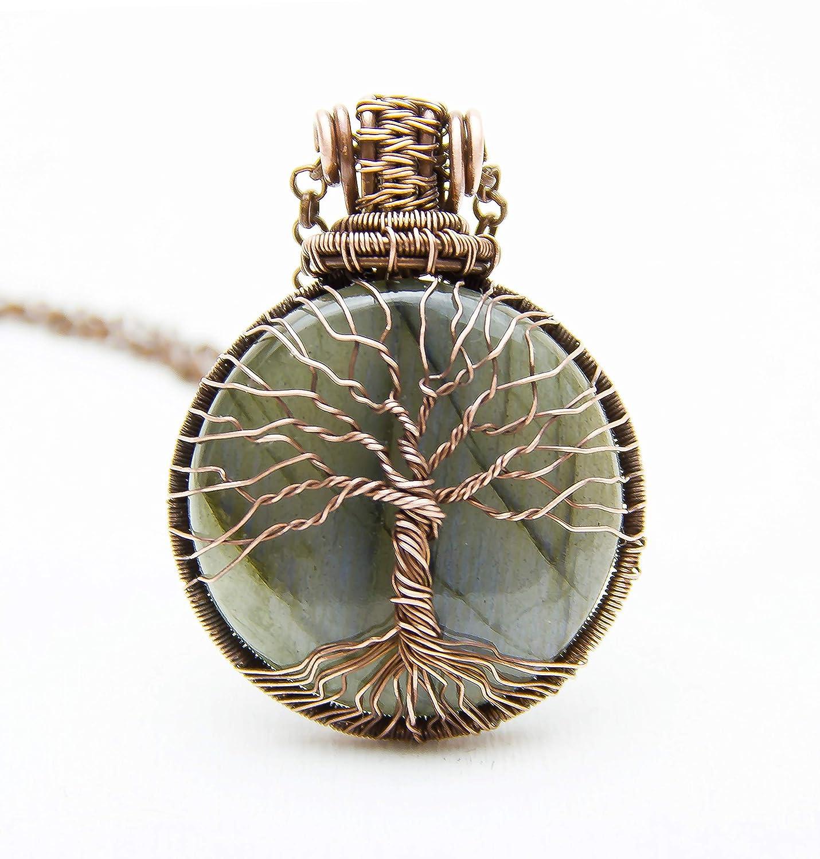 Brass Wire Wrapped Pendant Designer Handmade Pendant Thebestjewellery Labradorite Pendant Tree of Life Pendant BRS-6355