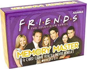 AQUARIUS Friends Memory Master Card Game - Fun Family Party Game for Kids, Teens and Adults - Entertaining Family Game Night Gift - Officially Licensed Friends TV Show Merchandise - Ages 6 and Up