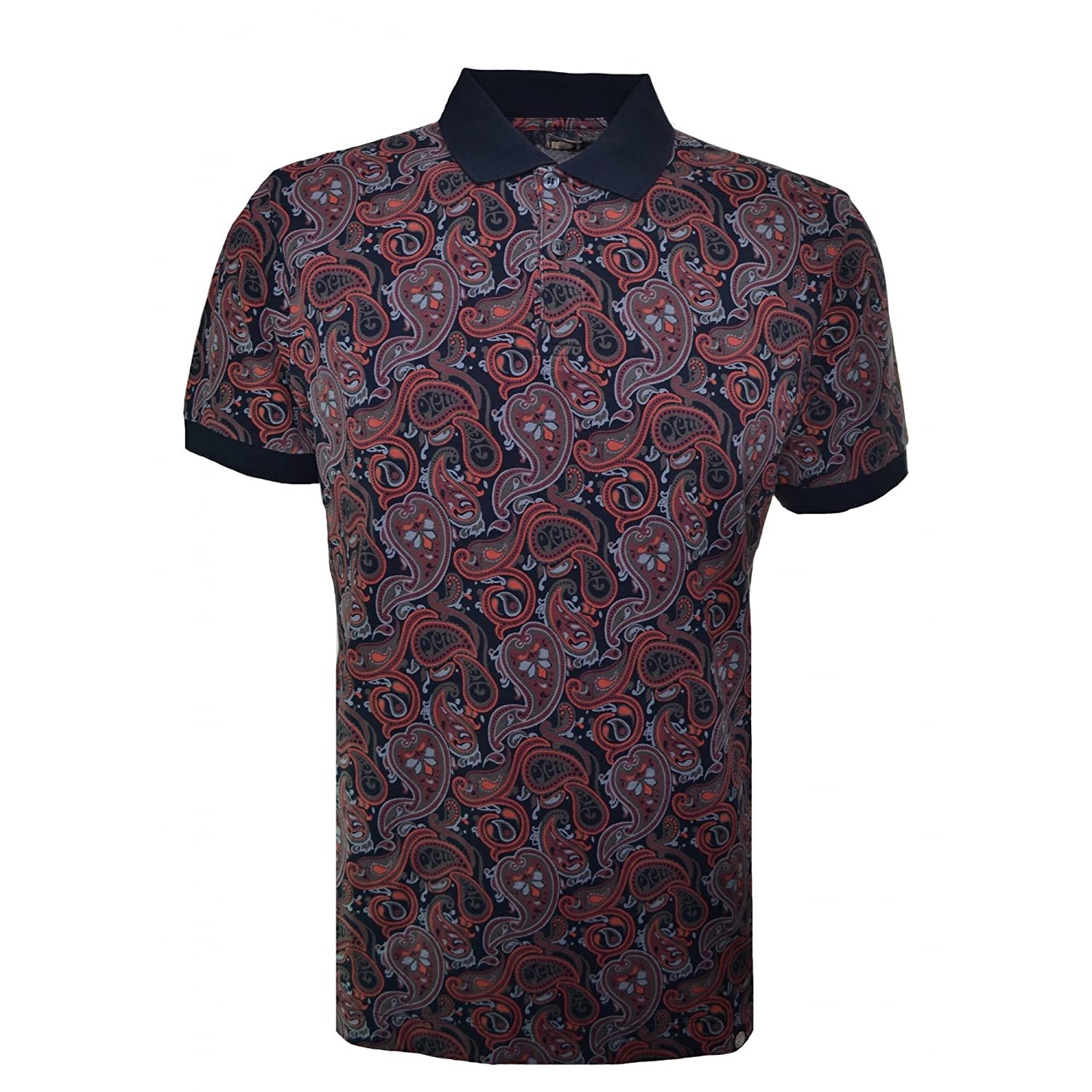 Pretty Green Herren Poloshirt Turner Paisley Polo