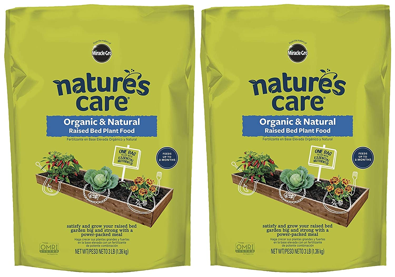 Amazon.com: Natures Care Organic & Natural Raised Bed Plant Food (Twо Pаck): Garden & Outdoor