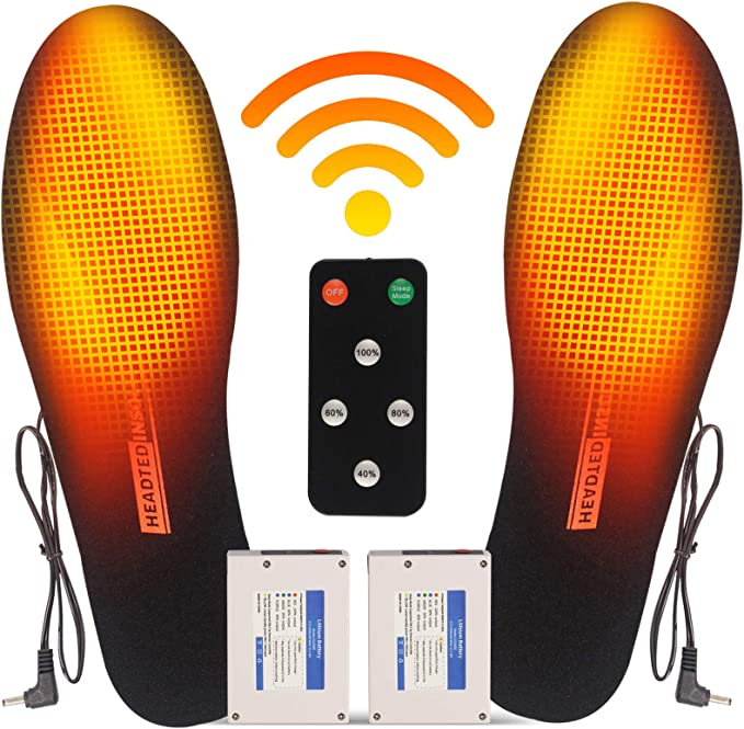 Pair Electric Heated Insole Winter Hot Shoe Pads Sneakers Washable Reusable Warm