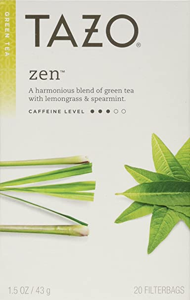 Tazo Zen Green Tea, 2 Count