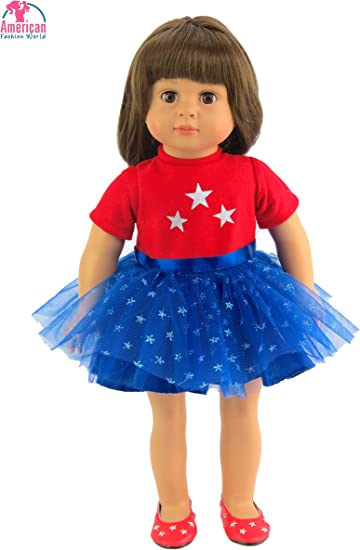 Doll Dress For 18 Inch American Dolls Red Skirt 18 Inch Girl Doll Clothes NEW