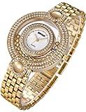 Reloj Dorado Mujer Moda Baratos Pulsera De Oro-Tono Del CíRculo Diamantes
