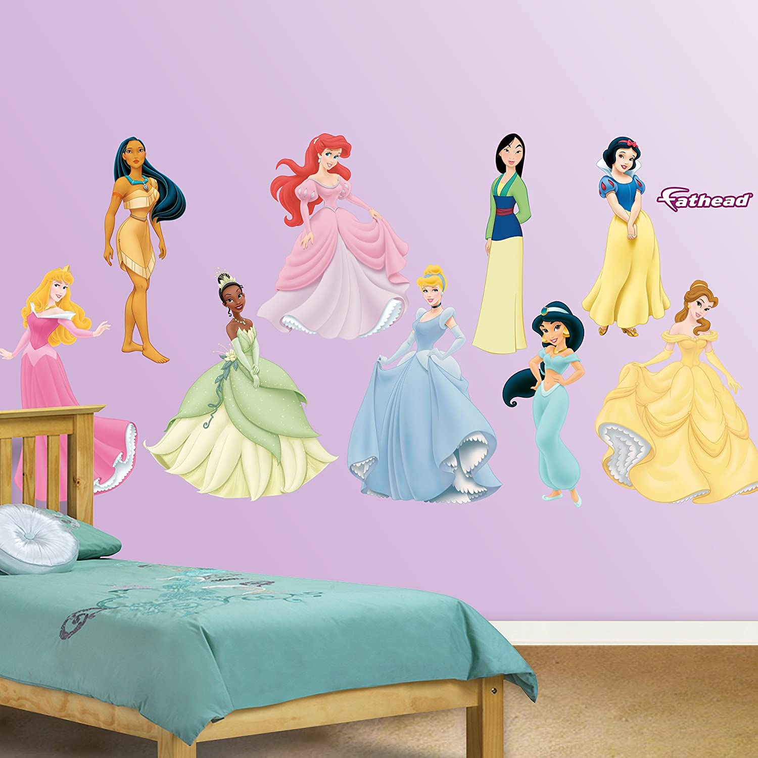 Amazon.com: FATHEAD Disney Princess Collection Graphic Wall Décor: Home U0026  Kitchen