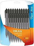 Paper Mate InkJoy 100RT Retractable Ballpoint Pen, Medium, Black, 20-Count