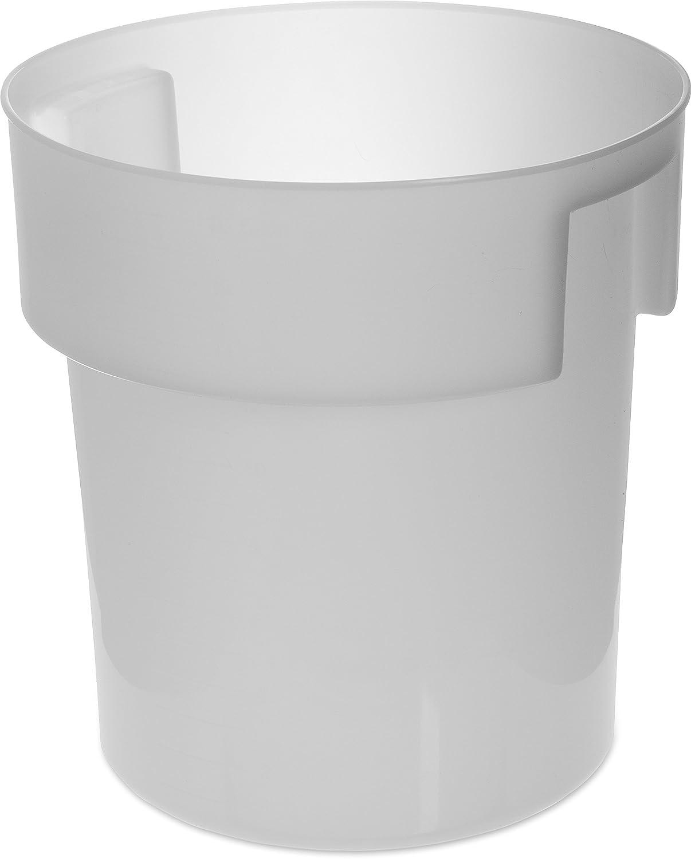 Carlisle Paddles 180002 BPA-Free Bains Marie Round Storage Container, 18 Quart, White