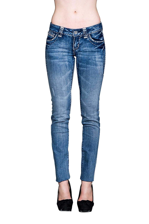 VIRGIN ONLY Women's Slim Fit Skinny Jeans (Medium Blue)