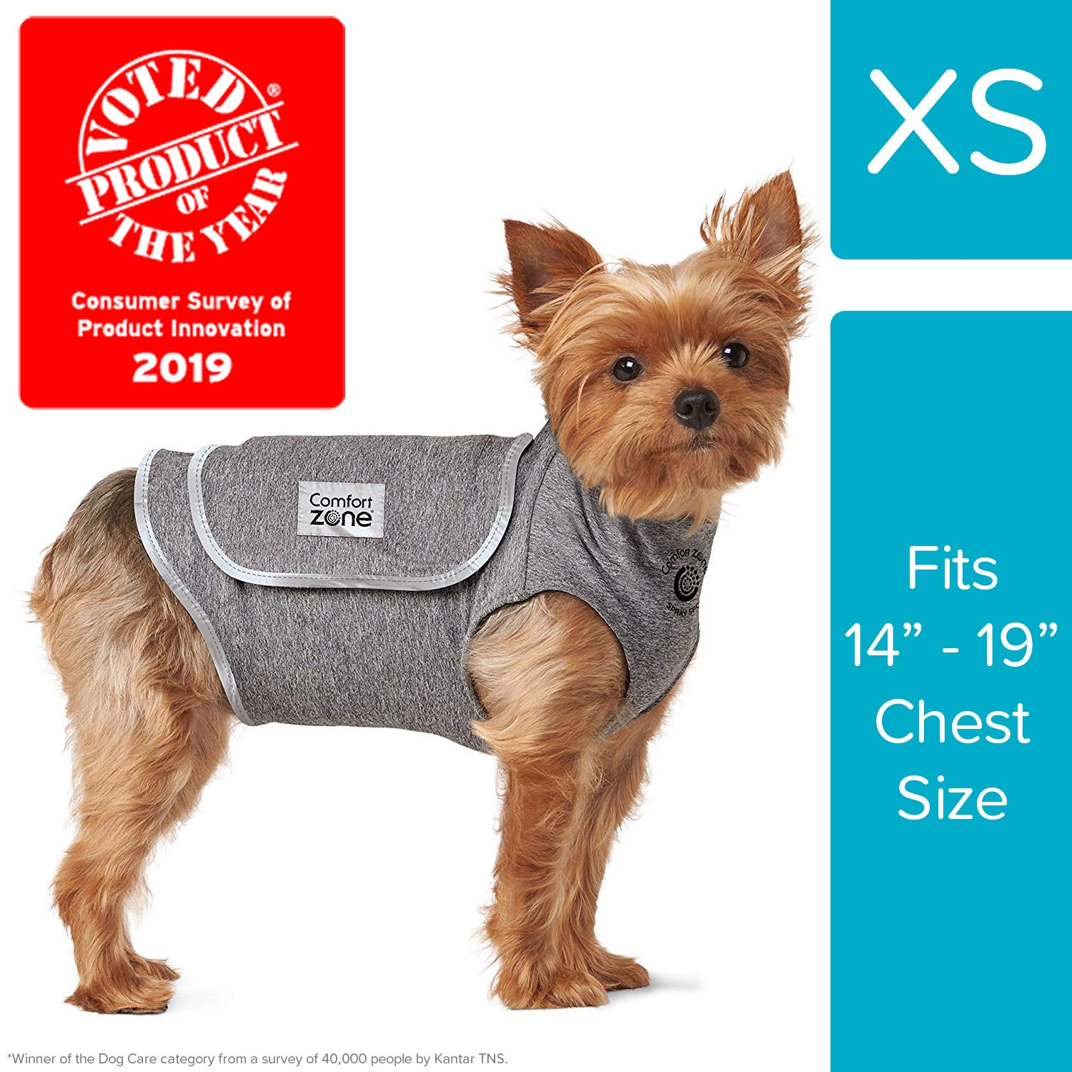 Comfort Zone Calming Vests for Dogs, for Thunder & Anxiety, x Small (14-19'' Chest)