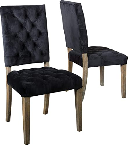 Christopher Knight Home Carolina Velvet Dining Chairs
