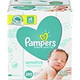 Pampers Sensitive, Water Based Baby Wipes, 392 Total Wipes