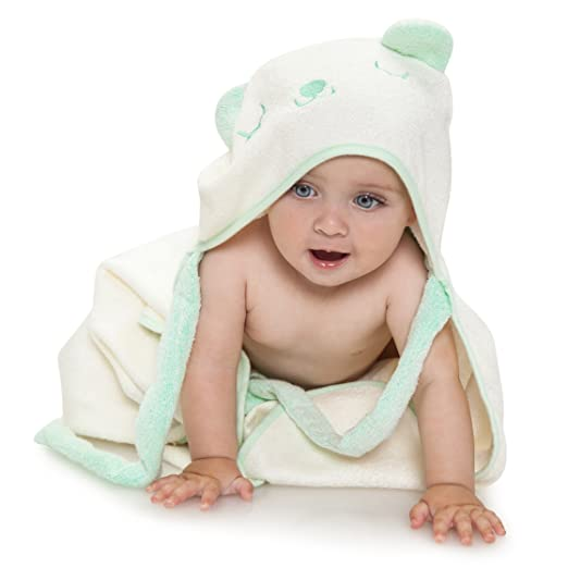 Hooded Bamboo Baby Bath Towel - Bear by Ha&Da - My Mom's Best