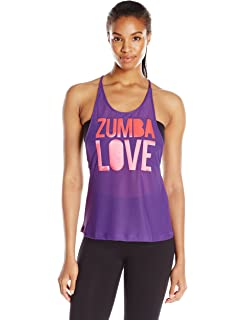 Zumba Womens Love Mesh Tank Top
