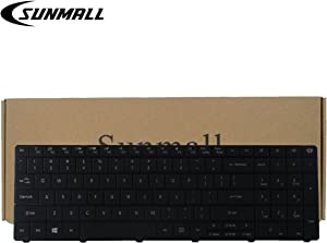 SUNMALL Keyboard Replacement for Gateway NE51B NE522 NE722 NV570P NE56 NE56R NE71B NE56R48u NE56R41u NE56R42u NE56R43u NE56R45u NE56R31U NE56R34U Series Laptop Black US Layout