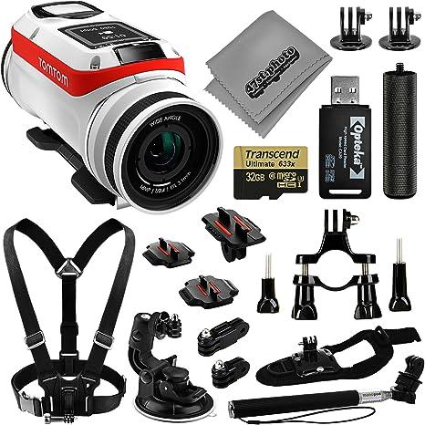 TomTom Bandit 4 K GPS 32 gb cámara de acción + Opteka empuñadura + ...