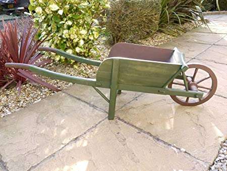 Black Country Metal Works Large Wooden Wheelbarrow Planter Amazon